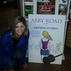 OL with Abby Road poster