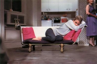 audrey as holly on sofa